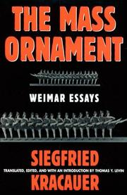 Cover of: The Mass Ornament | Siegfried Kracauer