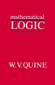 Cover of: Mathematical Logic