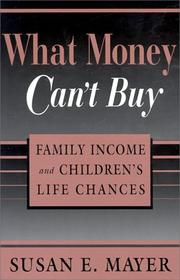 Cover of: What Money Can