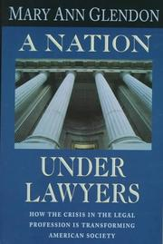 Cover of: A nation under lawyers
