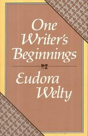 Cover of: One writer's beginnings
