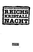 Cover of: Reichskristallnacht
