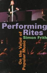 Cover of: Performing Rites | Simon Frith