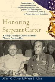 Honoring Sergeant Carter by Allene G. Carter