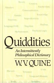 Cover of: Quiddities
