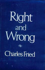 Cover of: Right and wrong