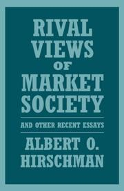 Cover of: Rival views of market society and other recent essays
