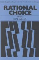 Cover of: Rational choice