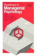 Cover of: Readings in managerial psychology