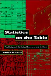 Cover of: Statistics on the table
