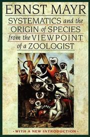 Cover of: Systematics and the origin of species, from the viewpoint of a zoologist