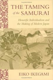 Cover of: The Taming of the Samurai | Eiko Ikegami