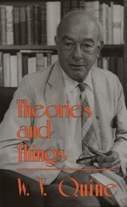 Cover of: Theories and Things