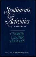 Cover of: Sentiments & activities
