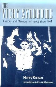 Cover of: The Vichy syndrome