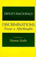 Cover of: Discriminations: essays & afterthoughts, 1938-1974
