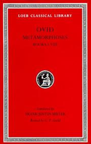 Cover of: Ovid III: Metamorphoses, Books I-VIII (Loeb Classical Library #42)