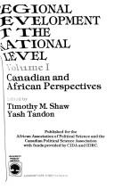 Cover of: Regional development at the national level
