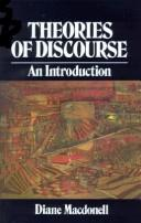 Theories of discourse by Diane Macdonell