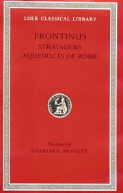 Cover of: Frontinus
