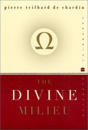 Cover of: Milieu divin: an essay on the interior life
