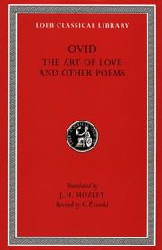 Cover of: The art of love and other poems | Publius Ovidius Naso