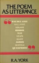 Cover of: The poem as utterance