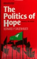 Cover of: The politics of hope