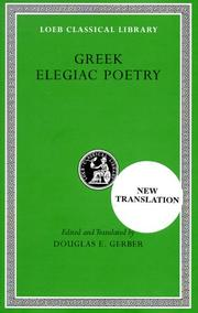 Cover of: Greek elegiac poetry