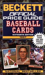 Cover of: Official Beckett Price Guide to Baseball Cards, 1997, 16th Edition (Official Beckett Price Guide to Baseball Cards, 16th ed., 1997)