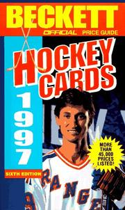 Cover of: Official Price Guide to Hockey Cards, 6th ed., 1997