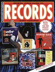 Cover of: Official Price Guide to Records