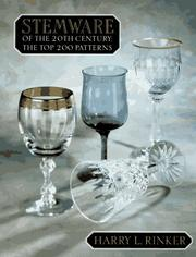 Cover of: Stemware of the 20th Century by Harry L. Rinker