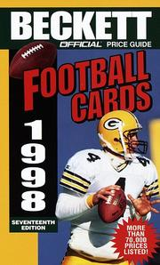 Cover of: Official Price Guide to Football Cards 1998, 17th edition (17th ed)