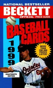 Cover of: Official Price Guide to Baseball Cards 1999, 18th Edition (18th ed)