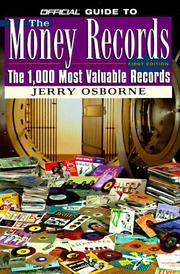 Cover of: The official guide to the money records