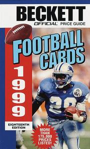 Cover of: Official Price Guide to Football Cards 1999, 18th edition (18th ed)
