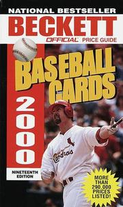 Cover of: Official Price Guide to Baseball Cards 2000