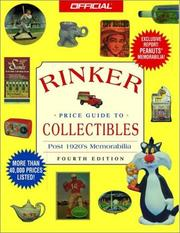 Cover of: The Official Rinker Price Guide to Collectibles, 4th edition (Official Rinker  Price Guide to Collectibles)