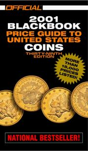 Cover of: The Official 2001 Blackbook Price Guide to United States Coins, 39th Edition (Official Blackbook Price Guide of United States Coins, ed 39) | Marc Hudgeons