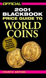 Cover of: The Official 2001 Blackbook Price Guide to World Coins, 4th Edition (Official Price Guide to World Coins, 4th ed) | Marc Hudgeons, Thomas E. Jr Hudgeons