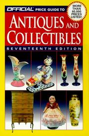 Cover of: The Official Price Guide to Antiques and Collectibles