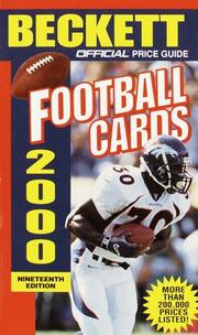 Cover of: Official Price Guide to Football Cards 2000