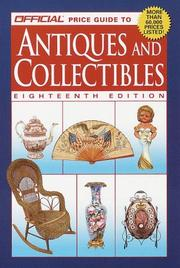 Cover of: The Official Price Guide to Antiques and Collectibles | Rinker Enterprises Staff