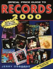 Cover of: The Official Price Guide to Records, 2000