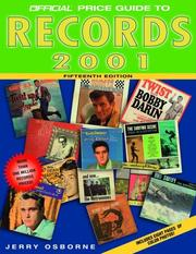 Cover of: The Official Price Guide to Records, 2001 (Official Price Guide to Records)