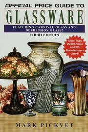 Cover of: The official price guide to glassware