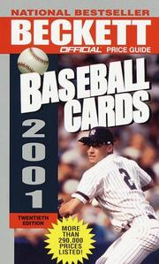 Cover of: Official Price Guide to Baseball Cards 2001
