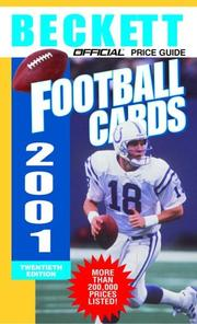 Cover of: The Official Price Guide to Football Cards 2001, 20th edition (Official Price Guide to Football Cards)