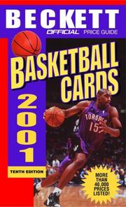 Cover of: The Official Price Guide to Basketball Cards 2001, 10th edition (Official Price Guide to Basketball Cards)